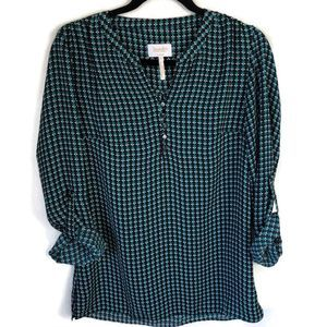 Laundry by Shelli Segal turquoise top size xs
